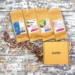 """""""Napęd na cztery"""" 4x100g Specialty - zestaw kaw ziarnistych Darvea"""