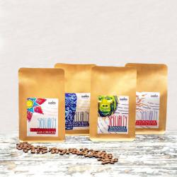 """""""Napęd na cztery"""" 4x250g Specialty - zestaw kaw ziarnistych Darvea"""