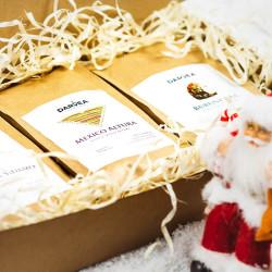 Zestaw prezentowy świąteczny - średni rozmiar - 3x250g kawa ziarnista
