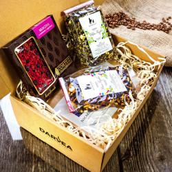 Zestaw prezentowy duży-2x250g kawa+4x50g herbata+czekolada