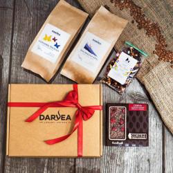 Zestaw prezentowy duży-2x250g kawa+100g herbata+czekolada
